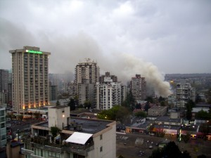 Feuer in Vancouver