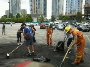 Vancouver wird geputzt